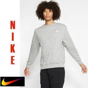 Nike Men's Club Crew Grey Heather Sweatshirt XXL
